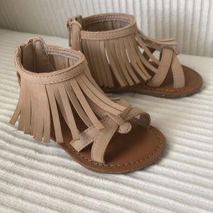 Gap Toddler Fringe Gladiator Sandal - Size 5